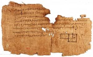 Le plus ancien extrait d'une copie des éléments géométriques d'Euclide