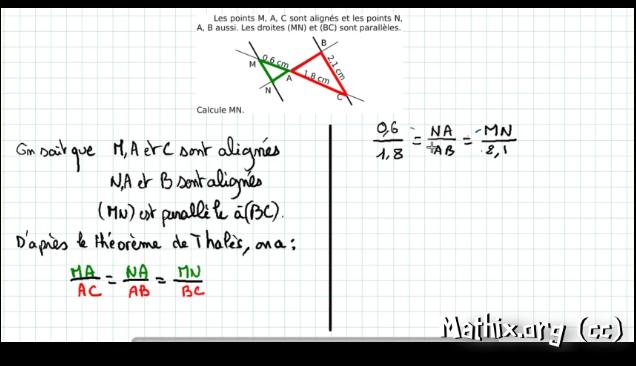 Exercice Traite Theoreme De Thales Configuration En Papillon Blog Enseignant Des Maths